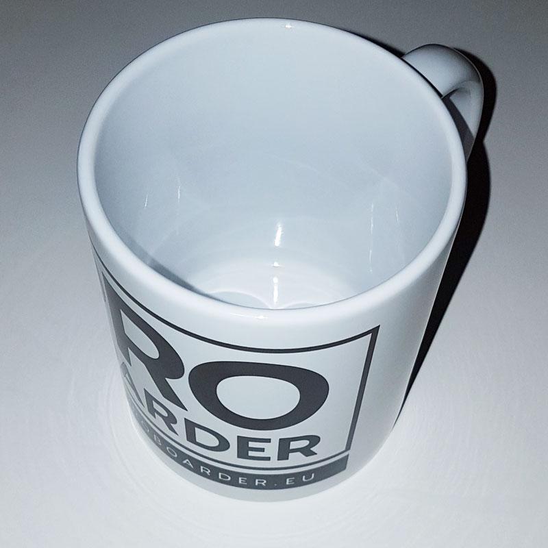 Kaffeetasse weiß - Coffee Cup PROBOARDER