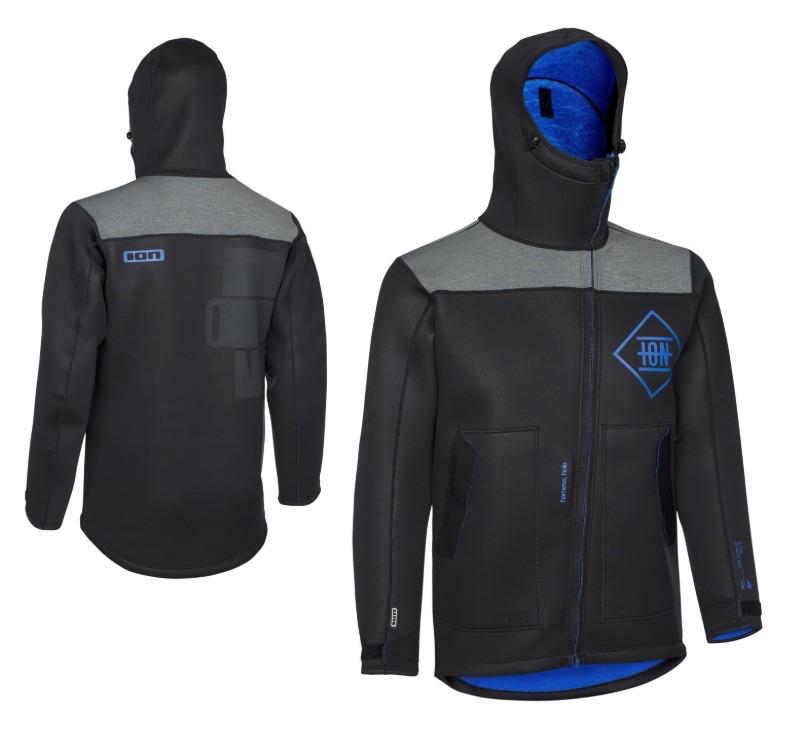 ION Neo Shelter Jacket / Neoprenjacke mit Schlitz für Kiter und andere Wassersportler