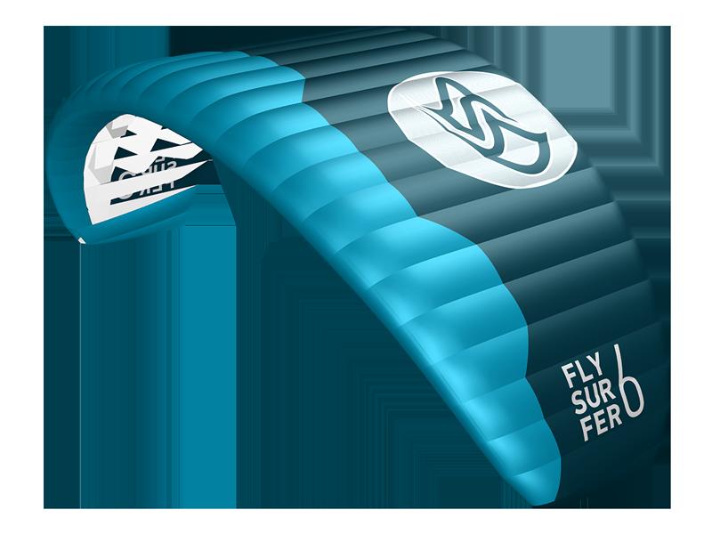 PEAK4 Kite gebraucht - Flysurfer Land und Schnee Foil Kite, Trainingskite Singleskin
